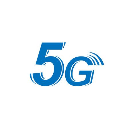 Vector icon 5G new generation high-speed internet Illustration