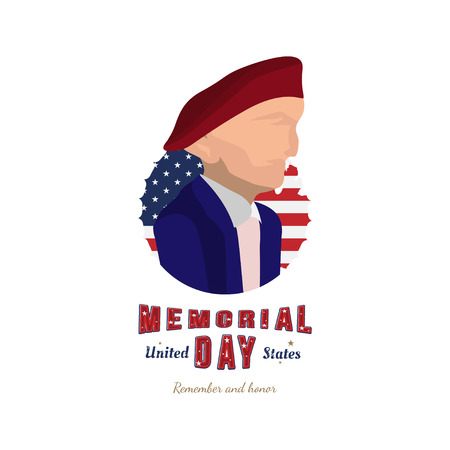 Happy Memorial Day. Illustration of United States military. Flat illustration EPS10