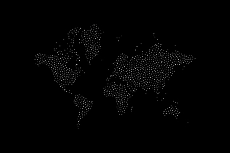 Abstract World Map with stars. Flat vector illustration EPS 10 Ilustracje wektorowe