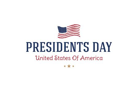 Happy Presidents day. Typography inscription for banners, greeting cards, gifts etc. Flat vector illustration EPS10.