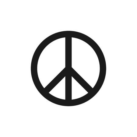 Friedenszeichen. Vektor-Web-Symbol für die Website. Flache Vektorillustration