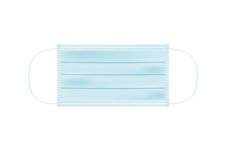 Realictic Medical surgical mask for the face, from Coronavirus and other infections. Human respiratory protection. Flat vector illustration