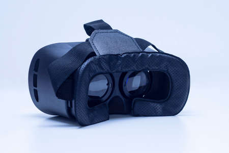 Glasses for virtual reality and 360-degree video. VR helmet for the smartphone Standard-Bild