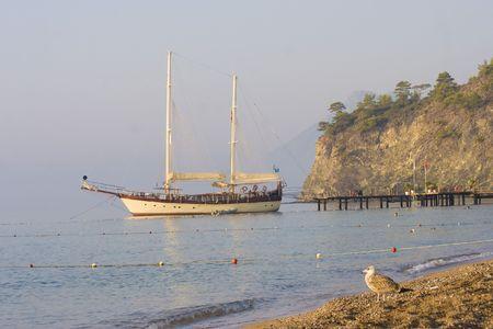 Large luxury yacht photo