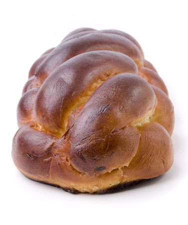 A loaf of challah bread for shabbat photo