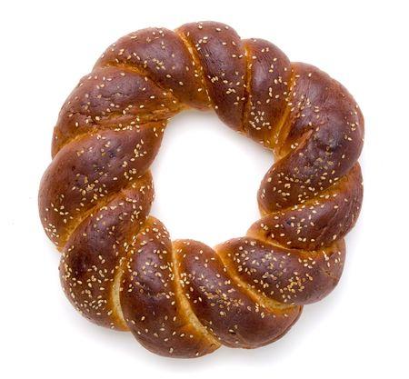 Un trozo de pan de Jalá de shabbat Foto de archivo - 6036429