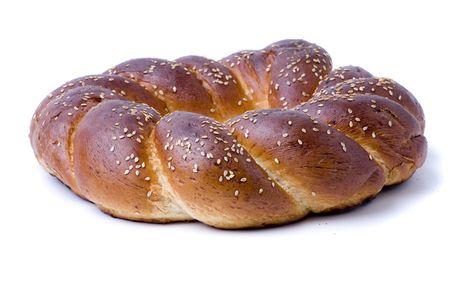 shabat: Un trozo de pan de Jalá de shabbat