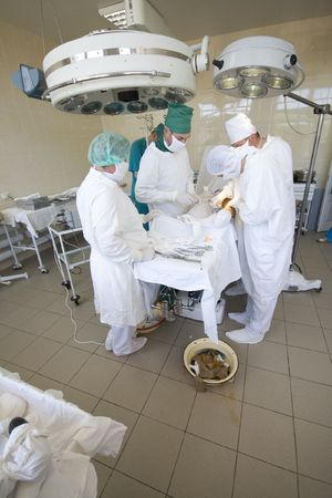 surgeons team at work Stock Photo - 6037413