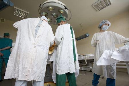 surgeons team at work Stock Photo - 6037460