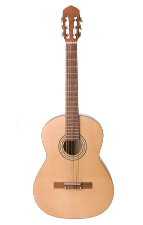 Classical acoustic guitar isolated on white Stock Photo - 6037025