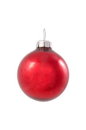 vacance: New year ball isolated Stock Photo