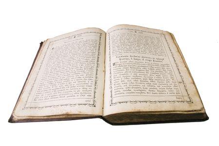 open vintage bible photo