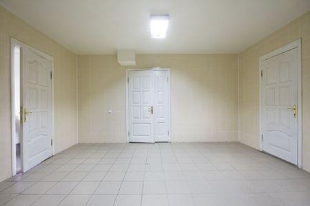 Empty hospital hall with closed  doors Stock Photo - 6037235