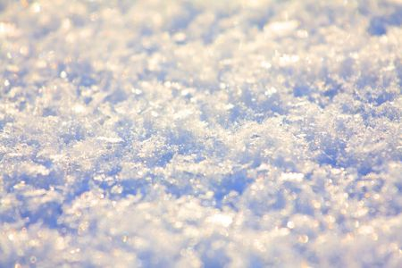 efectos especiales: Textura close up - destellos de glitter sobre fondo de nieve  Foto de archivo