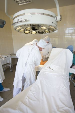 surgeons team at work Stock Photo - 6036254