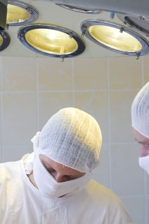 surgeons team at work Stock Photo - 6036206