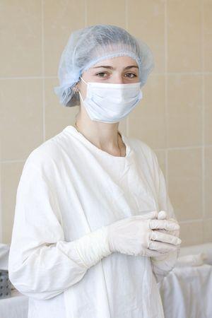 operative: operative nurse portrait Stock Photo