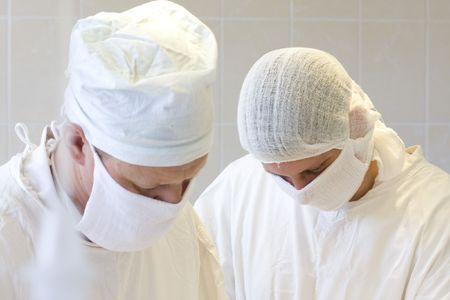 surgeons team at work Stock Photo - 6036281