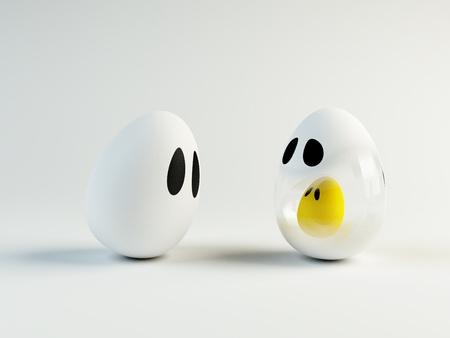 familia animada: imagen tridimensional de un embarazo de huevo de animación
