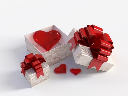 god box: heart in a gift box