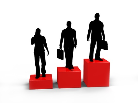 Business people, silhouette, career growth  photo