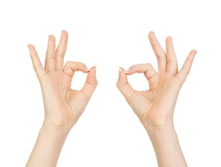 woman hand showing okay photo