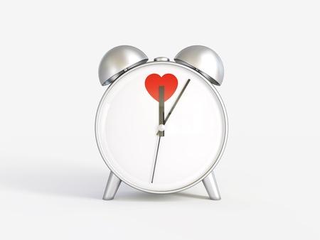 Alarm clock  Hours  Time of love  Valentine photo