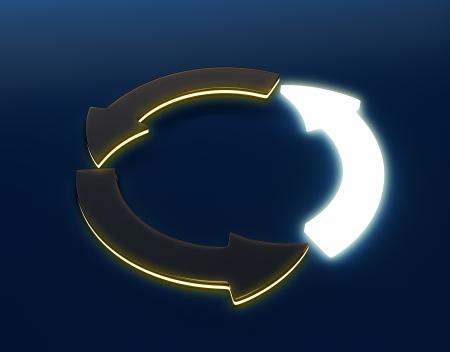 3D image of Circular light Arrow photo