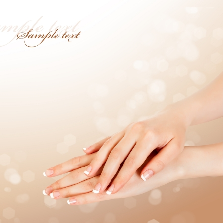 care for sensuality woman hands photo