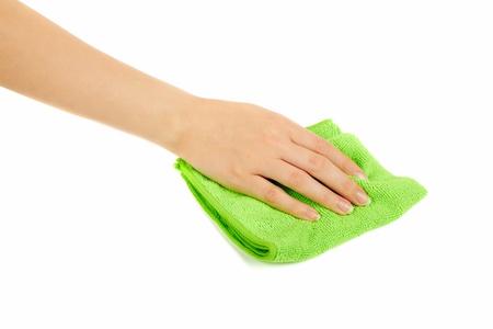 bath sponge: hand holding a sponge isolated on white background Stock Photo