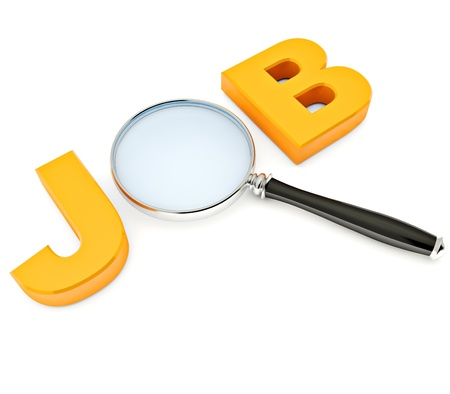 Job Search  3D image of letters photo