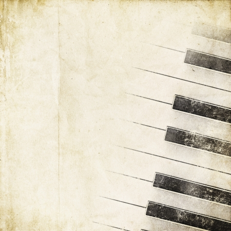 black piano: retro background with piano keys
