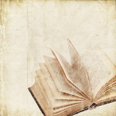 threadbare: retro background with old book