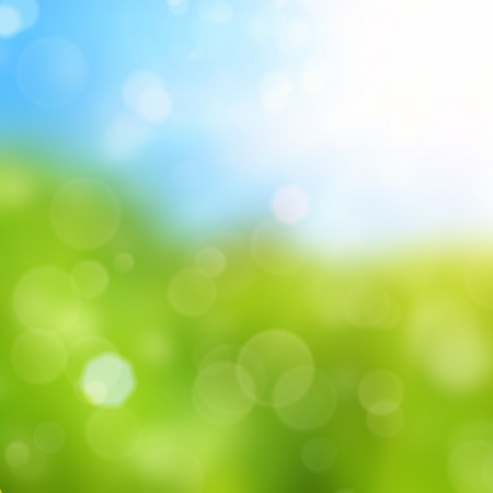 saturated color: Spring background with brokeh effect Stock Photo