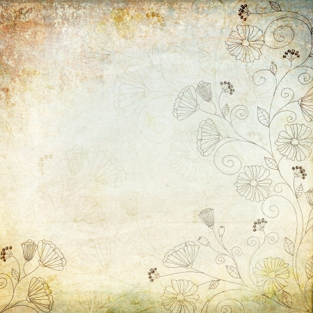 vintage background with floral pattern photo