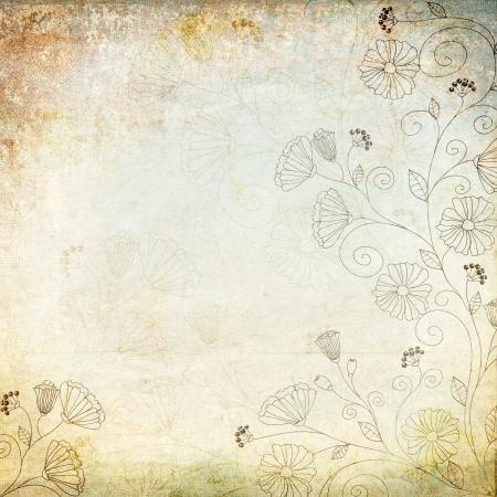 floral grunge: vintage background with floral pattern