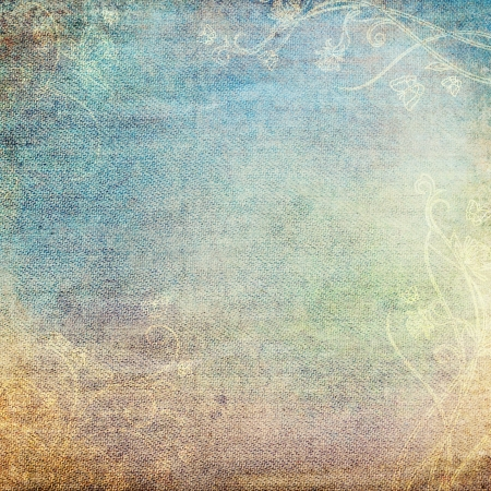 heavenly: vintage background with floral pattern