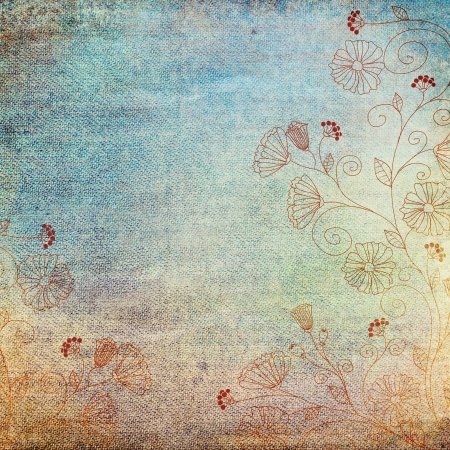 vintage background with floral pattern Stock Photo - 14525151