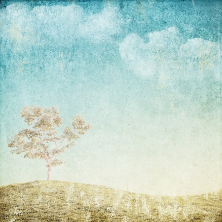 vintage background pattern: vintage background with tree Stock Photo