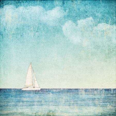 old boat: vintage background with a sailboat