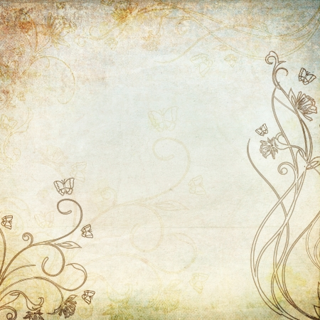 vintage background with floral pattern Stock Photo - 14524903