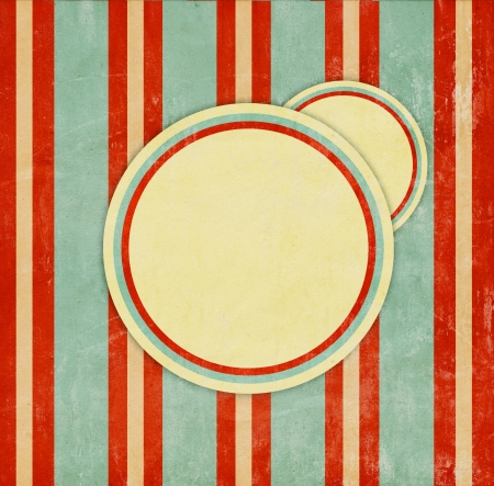 vintage torn paper: retro background with circles Stock Photo
