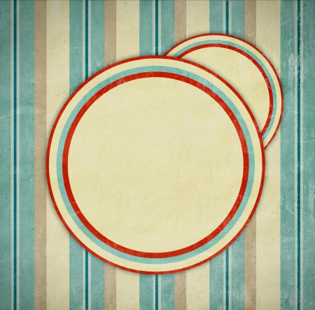 yellowed: retro background with circles Stock Photo