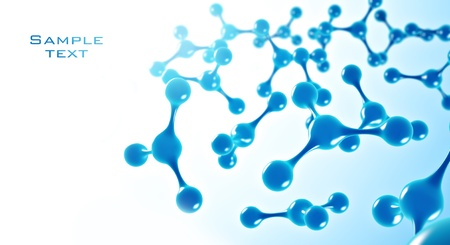 Molecule  3d render  In blue tones Stock Photo - 14523713