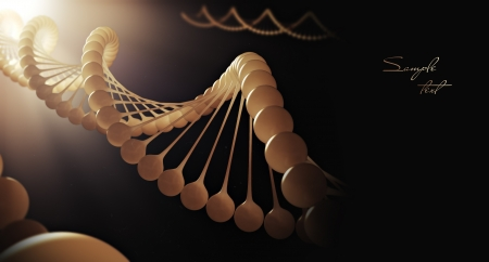 Molecule of DNA  3d render Stock Photo - 14523646