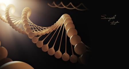 Molecule of DNA  3d render photo