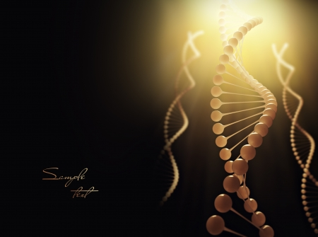 yellow yellow lab: Molecule of DNA  3d render Stock Photo