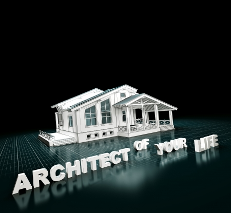 3D rendering of a house project   Architecture photo