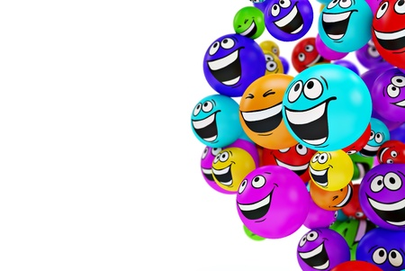 Funny colorful smiles. Positive emotions Stock Photo - 14958360
