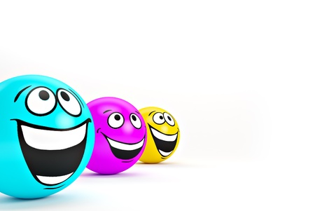 Funny colorful smiles. Positive emotions Stock Photo - 14958359